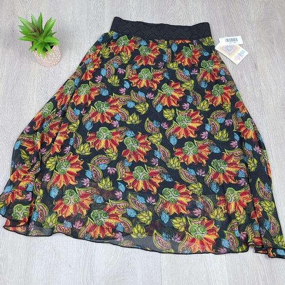 Lularoe XXS Lola Floral Skirt NWT
